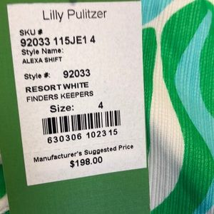 Lilly Pulitzer Dresses - Lilly Pulitzer Alexa Shift NWT Size 4